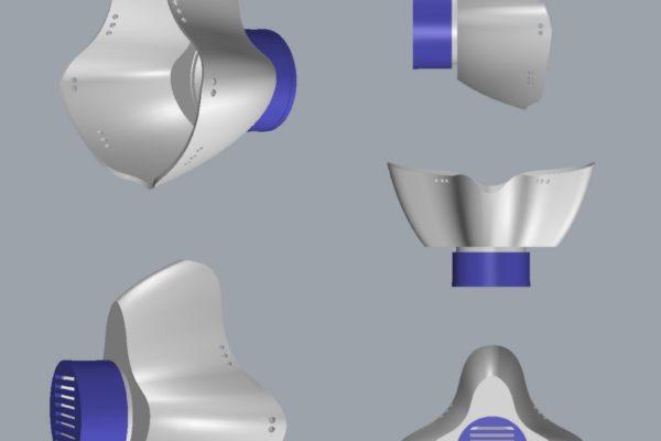 Disegno 3D mascherina studente IFTS Tecniche per la realizzazione artigianale di manufatti di oreficeria made in Italy (2)